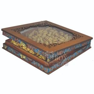 جعبه آجیل خشکبار جعبه پذیرایی کد LBL055 مدل ترمه-تصویر 2