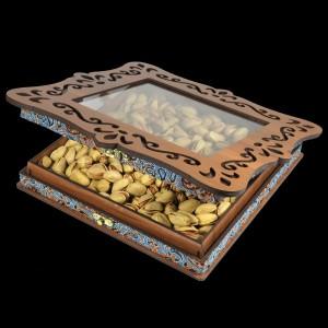 جعبه آجیل خشکبار جعبه پذیرایی جعبه چوبی کد LBL060-تصویر 4