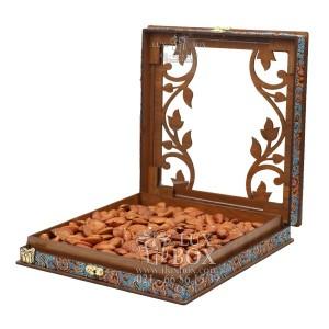 جعبه آجیل خشکبار جعبه پذیرایی جعبه چوبی کد LBL054-تصویر 2