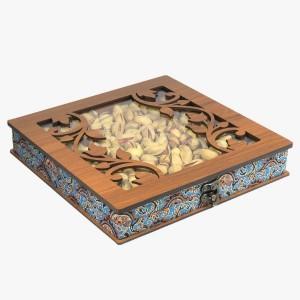جعبه آجیل خشکبار جعبه پذیرایی جعبه چوبی کد LBL054