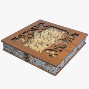 جعبه آجیل خشکبار جعبه پذیرایی جعبه چوبی کد LBL054-تصویر 4
