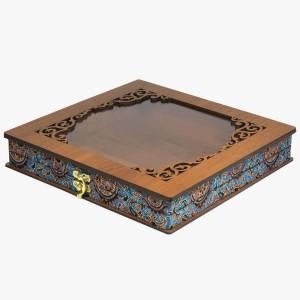 جعبه آجیل خشکبار جعبه پذیرایی جعبه چوبی کد LBL055-تصویر 5