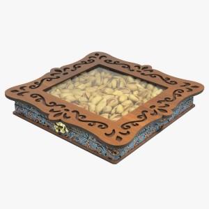 جعبه آجیل خشکبار جعبه پذیرایی جعبه چوبی کد LBL060