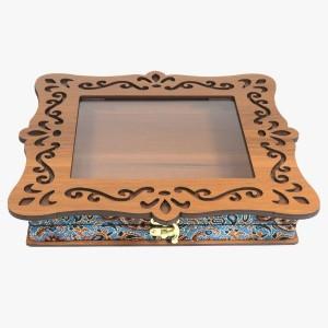 جعبه آجیل خشکبار جعبه پذیرایی جعبه چوبی کد LBL060-تصویر 2