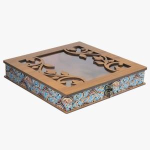 جعبه آجیل خشکبار جعبه پذیرایی جعبه چوبی کد LBL054-تصویر 3