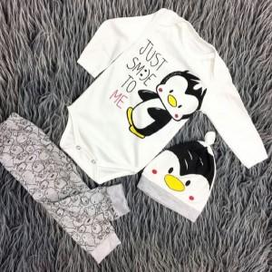 سه تیکه نوزادی طرح پنگوئن کوچولو