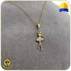 گردنبند طلا طرح فرشته کد 100