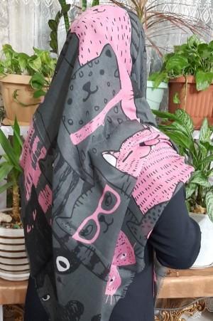 روسری نخی جدید طرح گربه ای