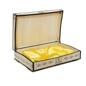 جعبه قرآن سبز کوچک ساتن دار-تصویر 2