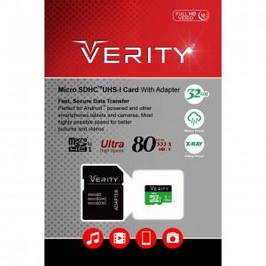 رم میکرو ۳۲ گیگ وریتی Verity U3 80MB/s