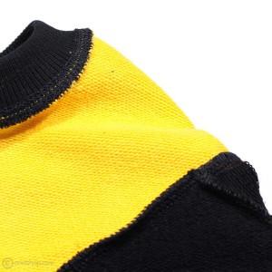 بلوز تک پسرانه زرد سرمهای-تصویر 3