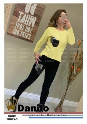 ست یلوز شلوار جیب آینه ای جدید زنانه-تصویر 4
