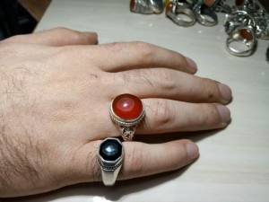 انگشتر عقیق سرخ یمنی-تصویر 5