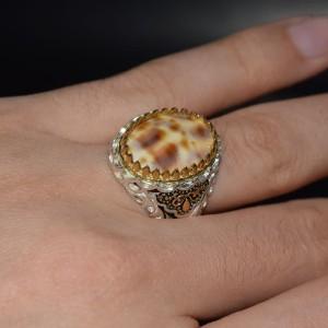انگشتر صدفی نقره کلکسیونی-تصویر 2