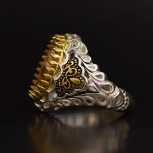 انگشتر صدفی نقره کلکسیونی-تصویر 4