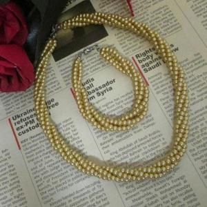 ست گردنبند و دستبند مروارید-تصویر 2
