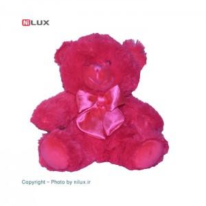 عروسک پالیز مدل خرس صورتی ارتفاع 20 سانتی متر