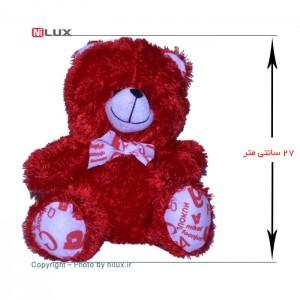 عروسک پوم پوم مدل خرس قرمز ارتفاع 27 سانتی متر-تصویر 2