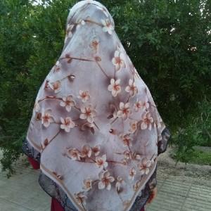 روسری حریر کرپ