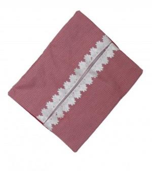 کاور دستمال کاغذی طرح چهارخانه قرمز
