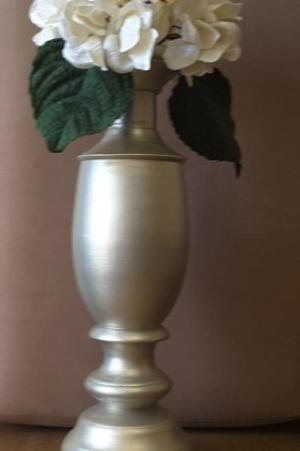 ست دوتایی گلدان و شمعدان چوبی-تصویر 5