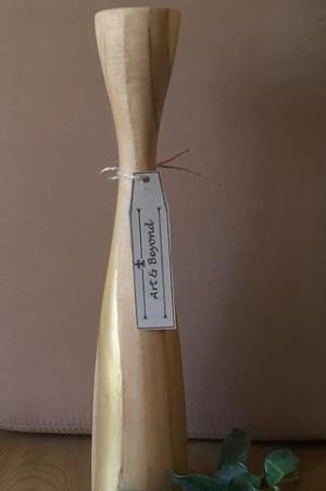 ست دوتایی جا شمعی چوبی-تصویر 3