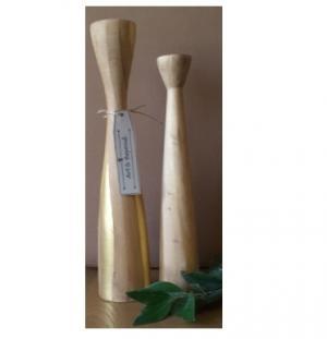 ست دوتایی جا شمعی چوبی-تصویر 5