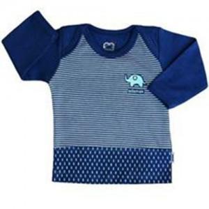 تی شرت پسرانه آستین بلند آدمک طرح فیل کوچولو