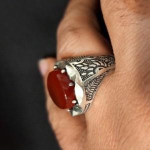 انگشتر عقیق مردانه
