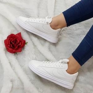 کفش کتانی نایک چرم سفید-تصویر 2
