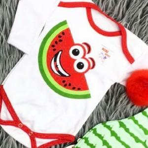 سه تیکه نوزادی طرح یلدا (طرح هندوانه )-تصویر 2