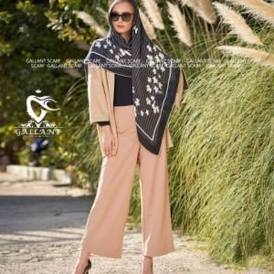 روسری نخی کشمیر دور دست دوز