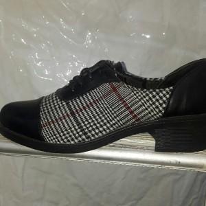 کفش پاشنه دوسانت بندی زنانه