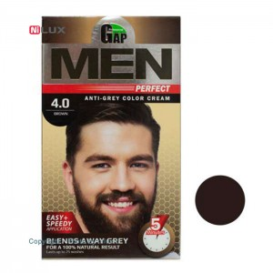 کیت رنگ مو مردانه قهوه ای گپ سری Men Perfect شماره 4.0 حجم 50 میلی لیتر
