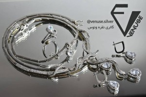 سرویس نقره : دستبند، گردنبند و گوشواره-تصویر 2