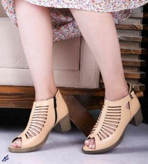 کفش تابستانی چرم زنانه-تصویر 2