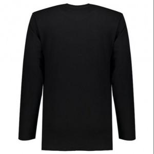 تی شرت مردانه آستین بلند مشکی ساده NEEK-تصویر 3