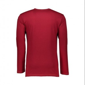 تی شرت آستین بلند مردانه زرشکی NEEK-تصویر 3