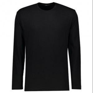 تی شرت مردانه آستین بلند مشکی ساده NEEK