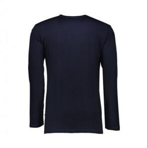 تیشرت آستین بلند مردانه سرمه ای ساده NEEK-تصویر 3