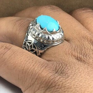 انگشتر فیروزه نیشابور اصلی-تصویر 2