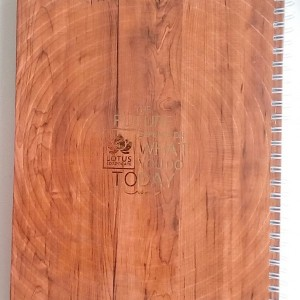 دفتر سیمی ۱۰۰ برگ جلد سخت طرح چوب-تصویر 3