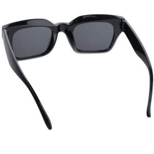 عینک آفتابی مردانه مدل Rectangle + کیف محافظ و دستمال-تصویر 3