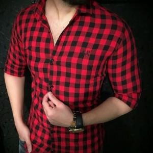 پیراهن چهارخونه