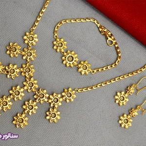 سرویس زنانه طرح طلا N8084