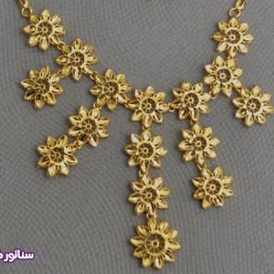 سرویس زنانه طرح طلا N8084-تصویر 2