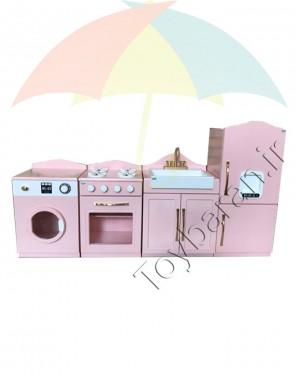 آشپزخانه چوبی کودک 4 تکه-تصویر 4