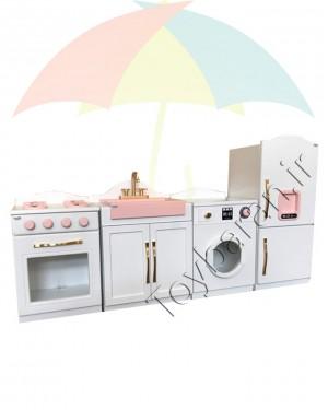 آشپزخانه چوبی کودک 4 تکه-تصویر 5