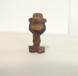 آدمک چوبی ، دست سازه چوبی ، مجسمه چوبی ، کد : ۵۳