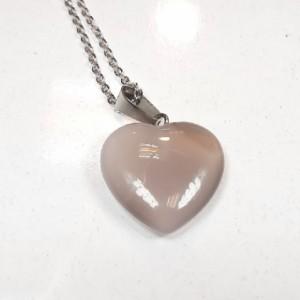 گردنبند عقیق تراش قلب، ولنتاین m331-تصویر 2